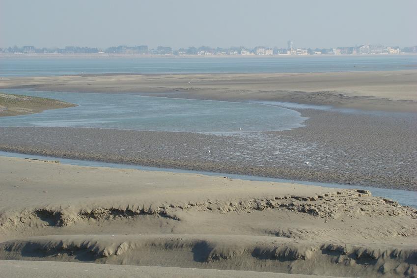Baie de somme vu du hourdel,Picardie